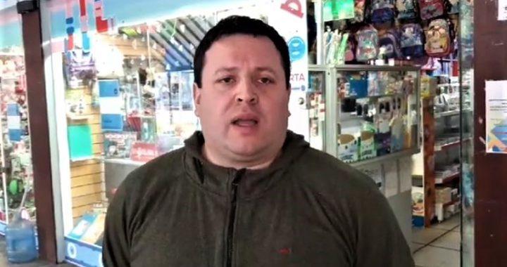 """Peatonal , Lucas Lopez Barrios comerciante """"Es casi imposible seguir con nuestros comercios abiertos"""""""