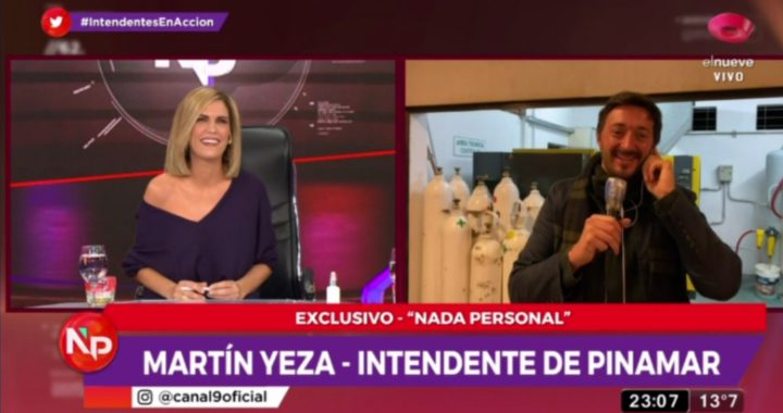 Martín Yeza con Viviana Canosa, tenemos 10 respiradores, la temporada de verano no esta perdida