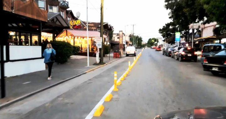 El municipio redobló la apuesta y coloco bicisendas a lo largo de toda la avenida Shaw