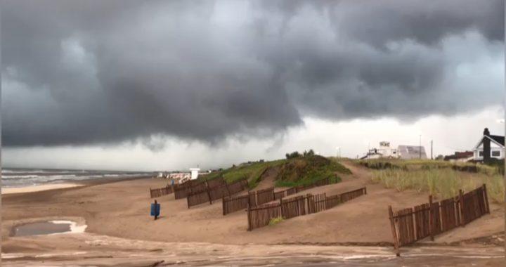 Asi se formo la tormenta que se convirtió en tornado y causó destrozos en Pinamar