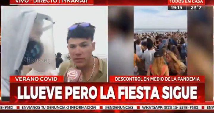Un joven pidió en una nota en Pinamar que la gente se contagie y tildó de cobardes a los que tienen miedo