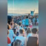 Así comenzaron los incidentes en la playa del parador Boutique, un periodista herido, y varias personas lastimadas